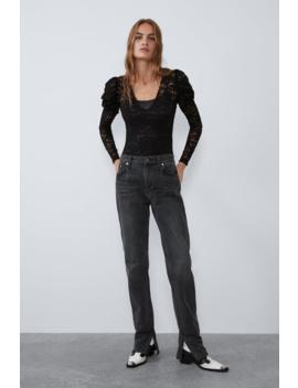 Voluminous Lace Bodysuit  Topstrf by Zara