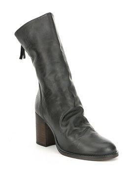 Elle Leather Block Heel Boots by Free People