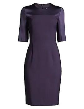 Danufa Super Stretch Virgin Wool Sheath Dress by Boss