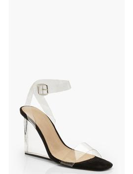 Clear 2 Part Wedges by Boohoo