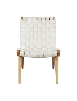Jens Lounge Accent Chair   White by Stilnovo