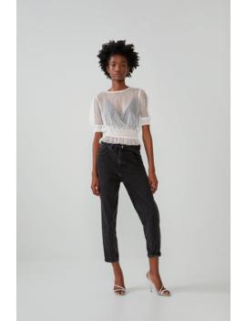 Swiss Dot T Shirt Tops T Shirts Trf by Zara