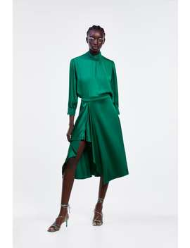 Ruffled Satin Effect Skirt View All Dress Time Woman Cornershops by Zara