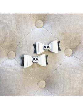 Jack Skellington Pigtail Bows ~ Disney Bows ~ Nightmare Before Christmas by Etsy