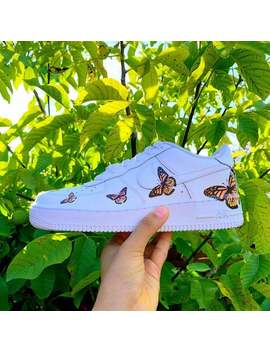 Custom Air Force 1 Low Orange Butterfly Air Force by Etsy