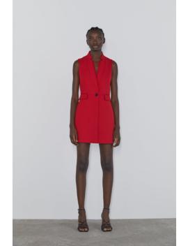 Inverted Lapel Collar Vest Waistcoats Coats Woman by Zara