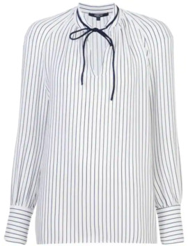 Sonia Stripped Long Sleeve Blouse by Derek Lam