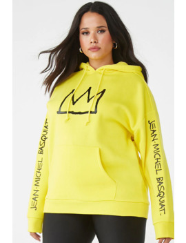 Plus Size Basquiat Graphic Hoodie by Forever 21
