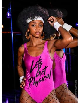 Let's Get Physical 80's Aerobic Leotard Or Bodysuit Costum For Halloween Or Eighties Party by Etsy