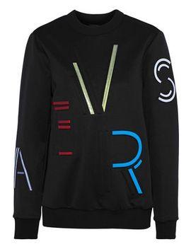 Appliquéd Embossed Stretch Jersey Sweatshirt by Versace