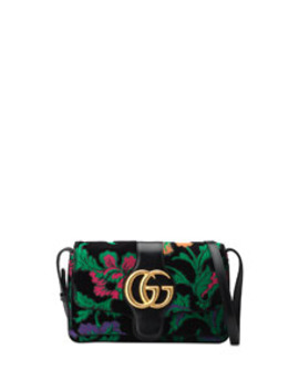 Arli Small Embroidered Velvet Shoulder Bag by Gucci