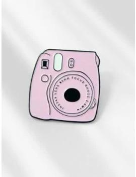 Cartoon Camera Shape Enamel Brooch   Pig Pink by Zaful