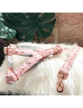 """Adjustable Dog Harness """"Plush In Rose Gold"""" by Etsy"""