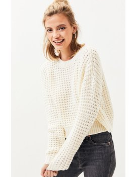 La Hearts Shaker Stitch Pullover Sweater by Pacsun