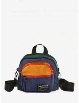 Hot Color Block Casual Mini Crossbody Bag   Yellow by Zaful