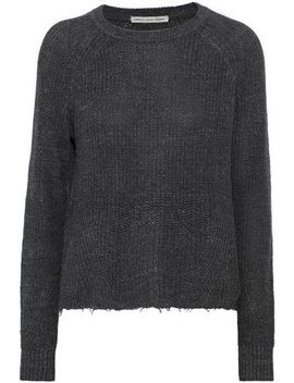Frayed Marled Ribbed Cotton And Silk Blend Sweater by Autumn Cashmere