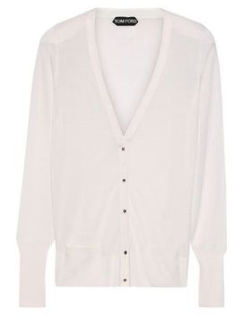 Wool And Silk Blend Cardigan by Tom Ford