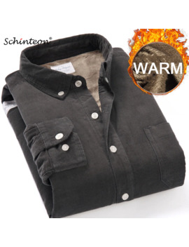 Top Quality 2019 Winter Warm Bottoming Shirt Men Corduroy Shirt Thick Fleece Lining Thermal Shirt S 4 Xl by Ali Express.Com
