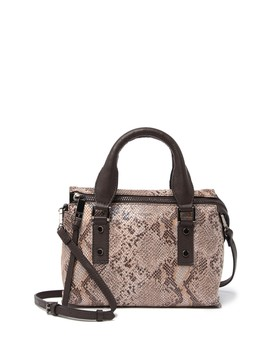 Rachel Mini Top Handle Leather Satchel by T Tahari