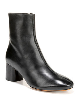 Tasha Leather Zip Booties by Vince