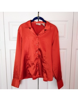 Vintage Kathie Lee Collections Satin Blouse by Vintage