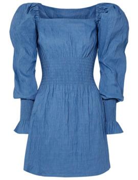 Everly Shirred Crinkled Stretch Jacquard Mini Dress by Anna Quan