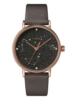 Celestial Opulence 37mm Textured Strap Watch by Timex