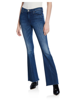 The Weekender Frayed Boot Cut Jeans by Mother