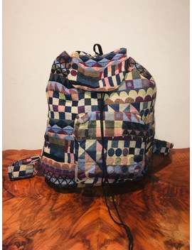 Mexicali Blues Backpack ,Backpack Bag, Large, Tapestry Backpack,Red, Tan,Brown,Green,Blue,Peach,Tan,Black, With Tag,Geometric,Circles by Etsy