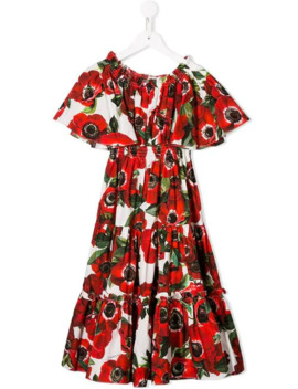 Floral Print Dress by Dolce & Gabbana Kids