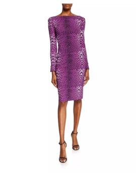 Darsey Leopard Print Cocktail Dress by Chiara Boni La Petite Robe