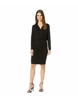 Jules Jersey Long Sleeve Cross Front Dress by Michael Stars