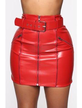 Bar Hopping Mini Skirt   Red by Fashion Nova