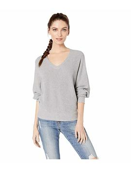 Lanie Cotton Knit Long Sleeve Dolman V Neck Pullover Sweater by Michael Stars