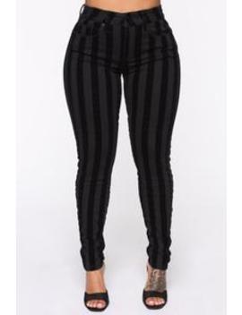 Got Me Mixed Up Skinny Pants   Black by Fashion Nova
