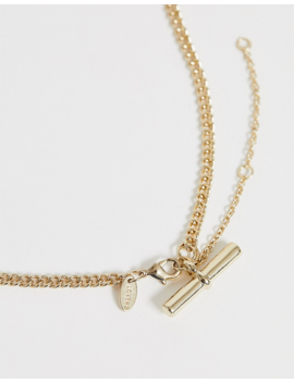 Liars &Amp; Lovers Gold T Bar Necklace by Liars & Lovers