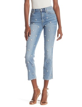 Edie High Waist Cropped Straight Jeans by 7 For All Mankind
