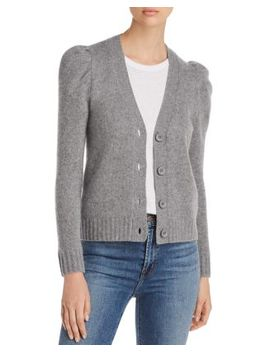 Puff Sleeve Cashmere Cardigan   100% Exclusive by C By Bloomingdale's
