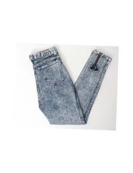Vintage 80s Acid Wash Bow Back Skinny Jeans Size 27 X 27 by Etsy