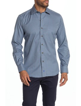 Regular Fit Check Sport Shirt by David Donahue