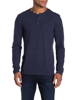 Long Sleeve Textured Henley by Lucky Brand