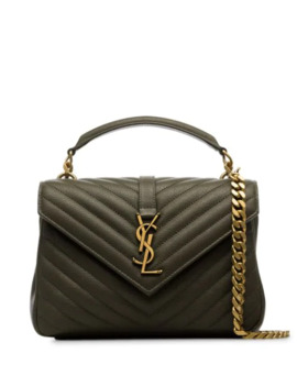 Medium College Mattelassé Leather Shoulder Bag by Saint Laurent