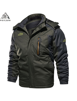 Winter Jacket Men Windbreaker Waterproof Thick Fur Hooded Warm Parka Coat Male Fleece Ski Snow Jackets Size 6 Xl 7 Xl 8 Xl 9 Xl by Ali Express.Com