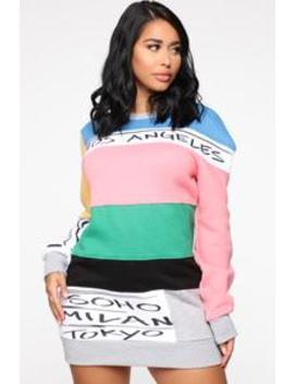 Say It Again Tunic Sweatshirt   Multi Color by Fashion Nova