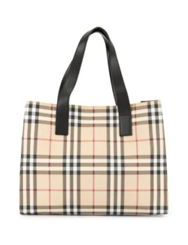 Check Tote Bag by Burberry Pre Owned