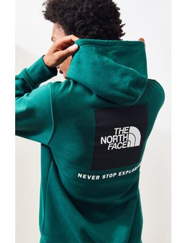 The North Face Green Red Box Pullover Hoodie by Pacsun