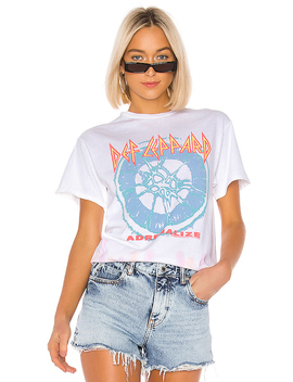 Def Leppard Adrenalize Tee In White, Bisque & Lavender Tie Dye by Junk Food