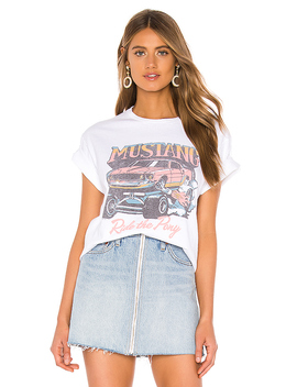 Mustang Tee In White by Junk Food