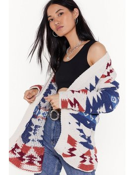Knit's Never Too Late Aztec Cardigan by Nasty Gal
