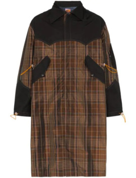 Checked Parka Coat by Boramy Viguier